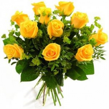 10 Yellow Roses