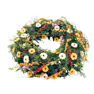 round  reath delivery, round flowers wreath delivery service in  Delhi India